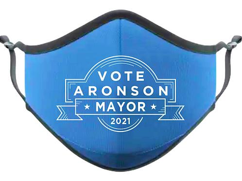 Aronson for Mayor face mask