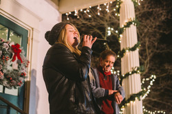 Katie Hunter sings at Christmas