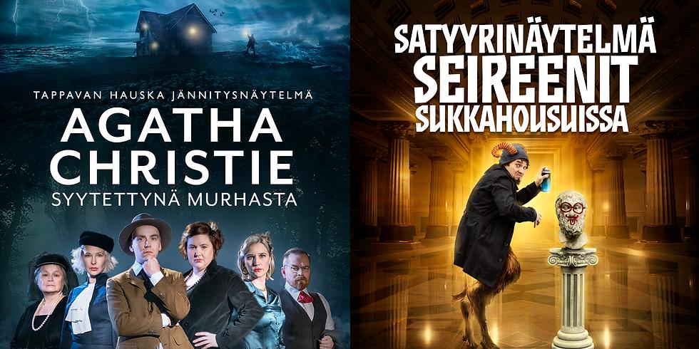 Klo 18 Agatha Christie syytettynä murhasta ja Seireenit sukkahousuissa