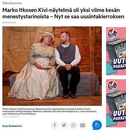 Marko Itkosen KIVI-näytelmä oli yksi viime kesän menestystarinoista - Nyt se saa uusintakierroksen