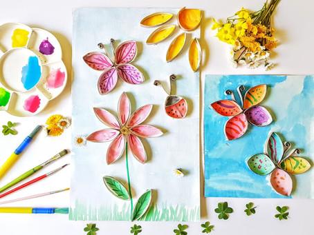 Primavera con rotoli di cartone