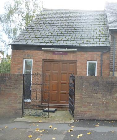 Entrance to John Street Church Shrewsbury