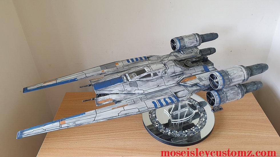 Star Wars U-Wing custom weathered for 3.75 figures