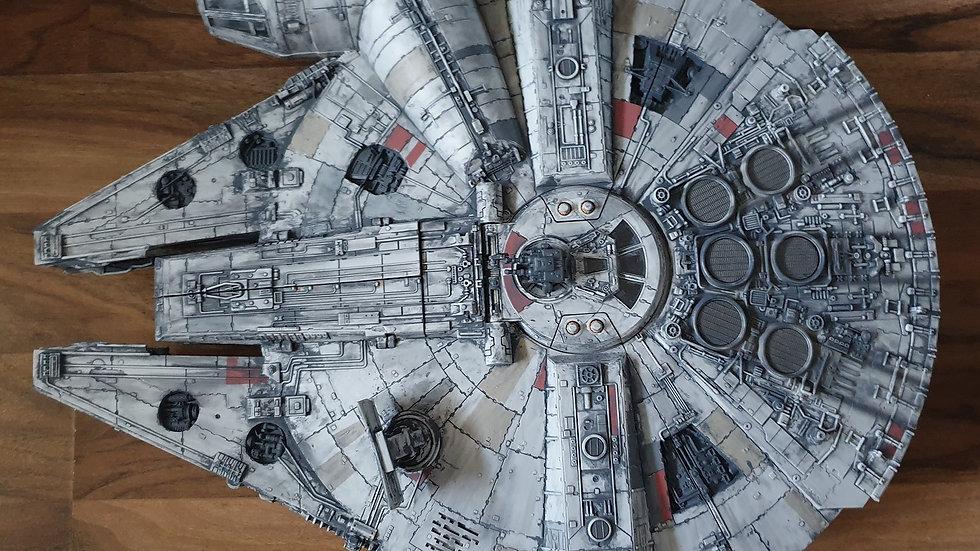 "Star Wars Force Awakens Millennium Falcon Moondust Grey Weathering 22""Long"
