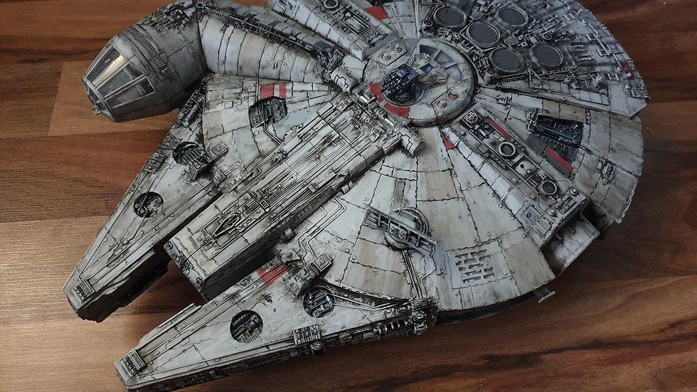 "Star Wars 22"" long Force Awakens Millennium Falcon for 3.75 Figures"