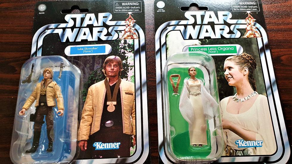 Star Wars The Vintage Collection Princess Leia & Luke Skywalker (Yavin) Figures