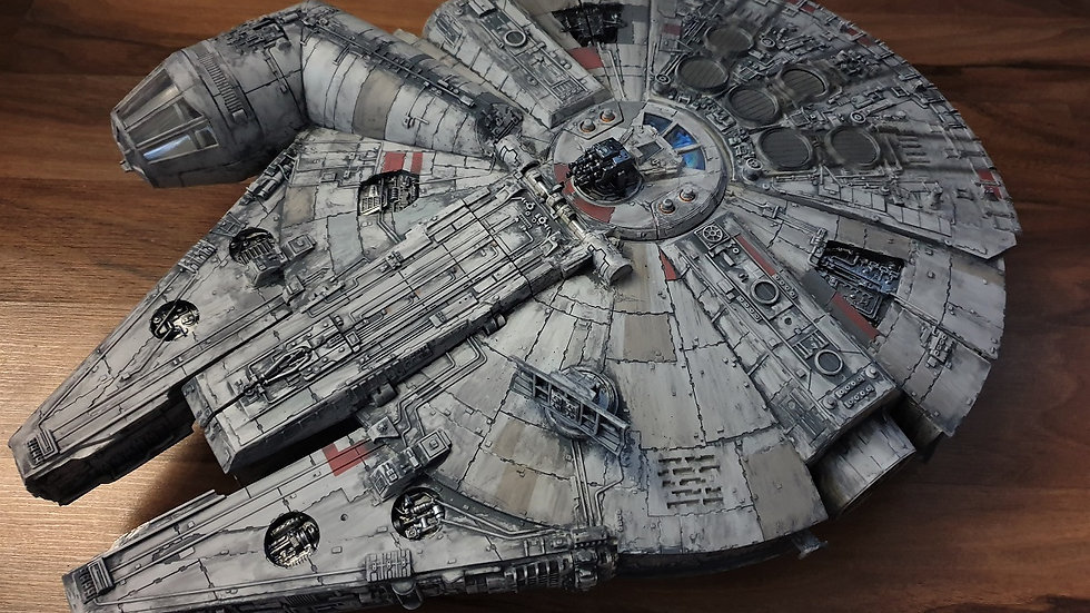 Star Wars Millennium Falcon Moondust weathering!