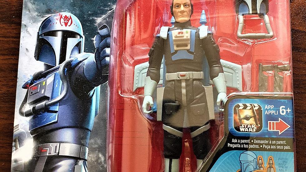 "Star Wars RARE Mandalorian Fenn Rau 3.75"" Figure"