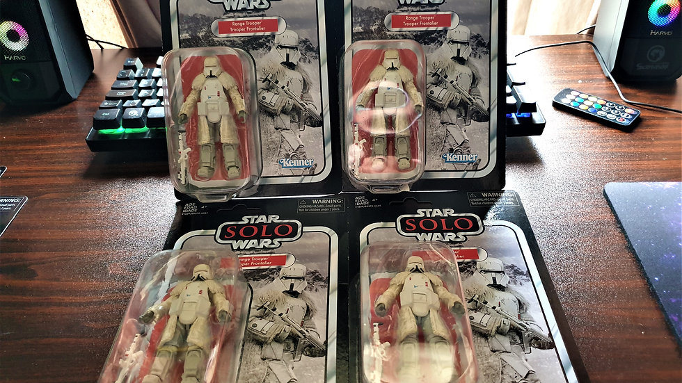"""STAR WARS The Vintage Collection SOLO 4x IMPERIAL RANGE TROOPERS 3.75"""""""