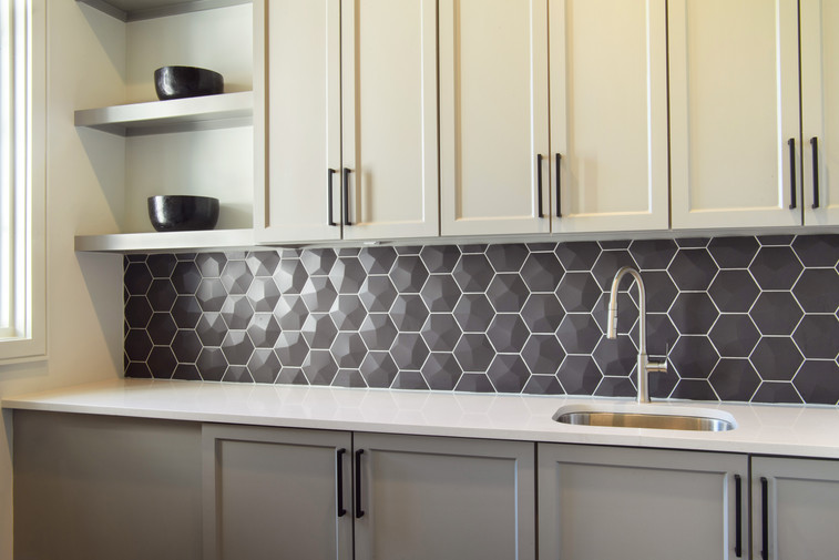 Laundry with 3D Backsplash