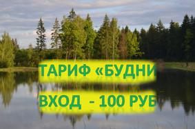 Теперь и пятница 100 рублей вход и 550 рублей за кг форели!
