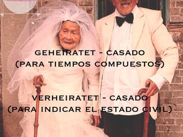 Casado: geheiratet y verheiratet