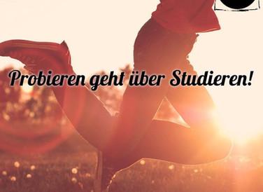 Probieren geht über Studieren!