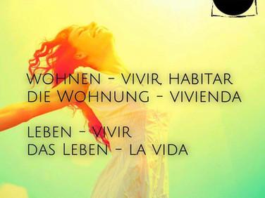 wohnen, leben: vivir