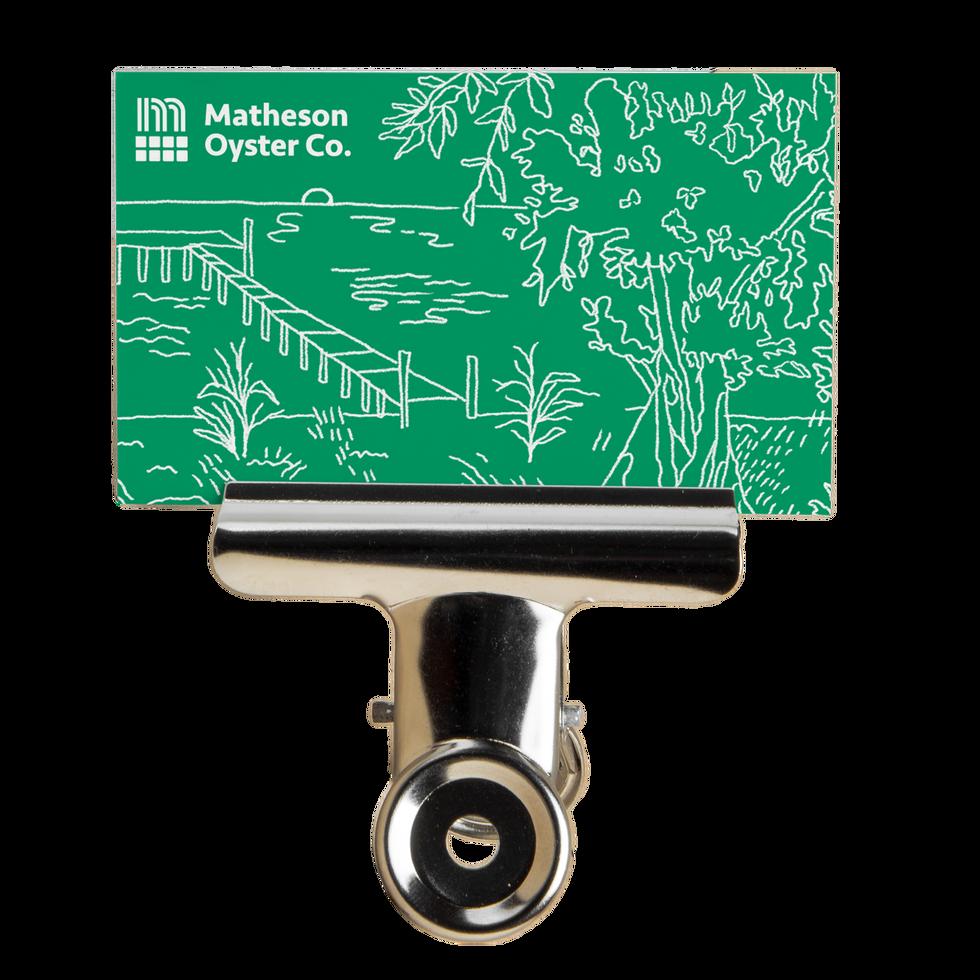 Matheson Oyster B-Card