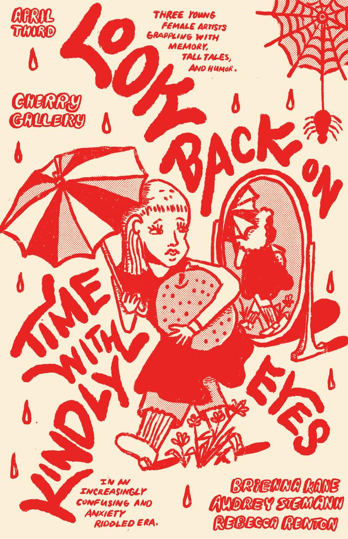 LookBackKindlyEyes_Poster on Beige_Red.j
