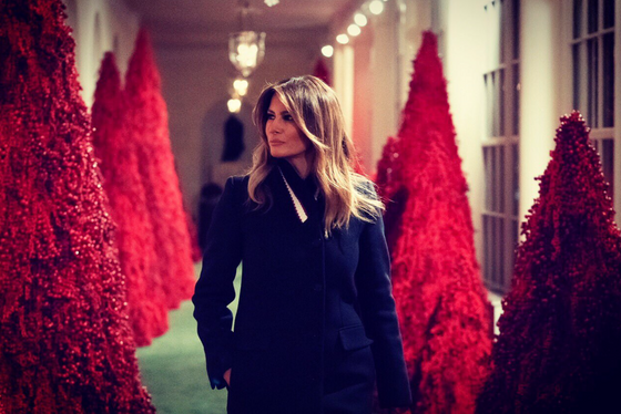 Spare me your mocking memes. Melania Trump's red Christmas trees are perfect