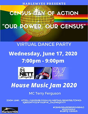 Census Virtual House Party Flyer (Zoom L