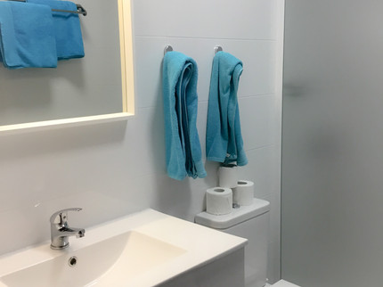 NEW BATHROOM IN 107 AND 108 ON THE GROUND FLOOR