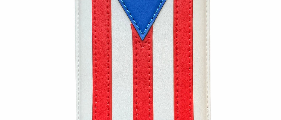 Pre-Order Puerto Rico Flag 3 Fingers Leather Case