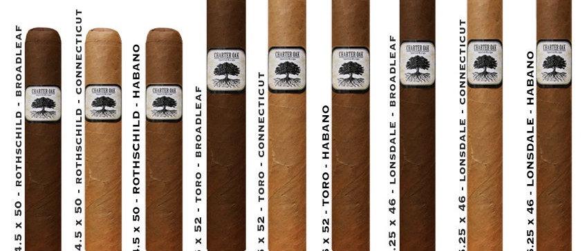 Charter Oak Habano - Toro 6 x 52 - 20 Ct. Box