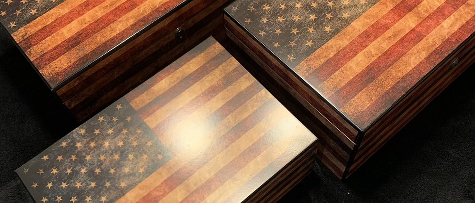 (Imperfect) Humidors - Old Glory Lot of 3 (50 - 100ct)