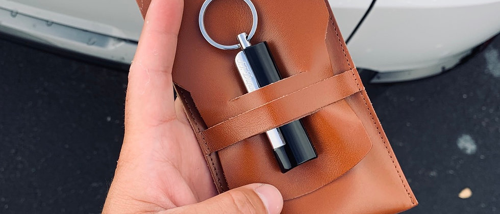 A. Marscell Leather Cigar Utility Pouch