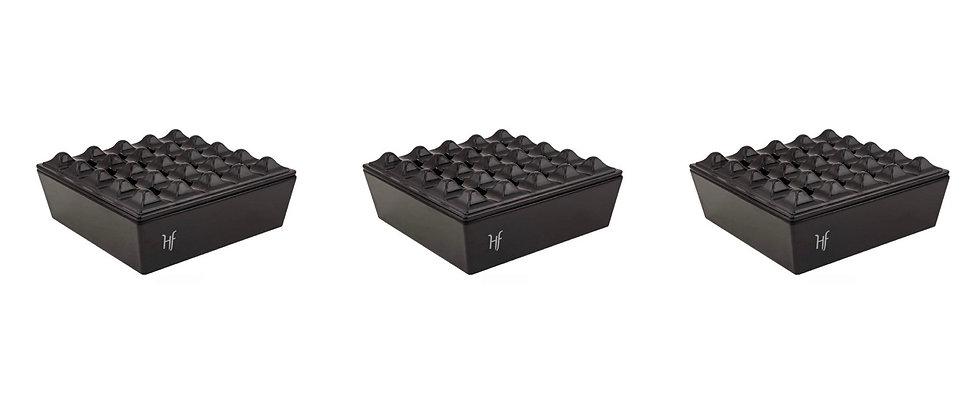 Lot of 10 (New) HF Black Ashtrays