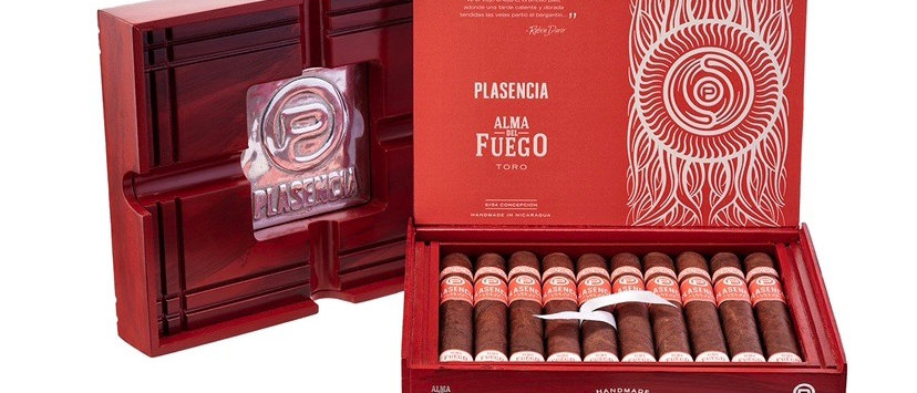 Plasencia Alma Del Fuego, Candente (5 x 50) Robusto, Box of 10 + FREE Ashtray