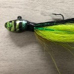 Sinister Chartreuse Green Bucktail - Sinister Series