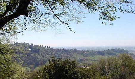 Vista dei colli di Bergamo