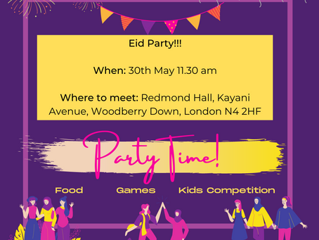 Party Time - Eid celebration outdoors!