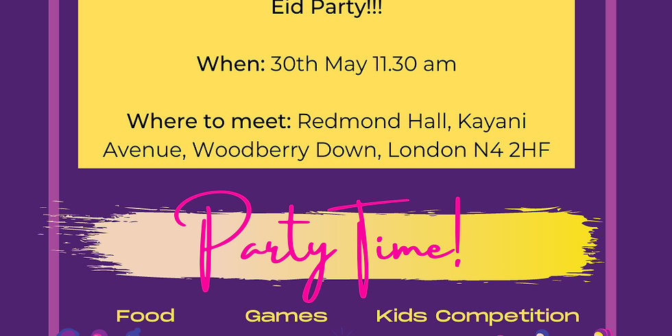 Party Time - Eid celebration outdoors