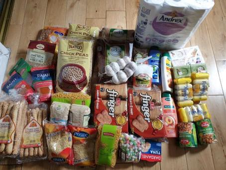 Food Packs Sponsored by London Community Foundation