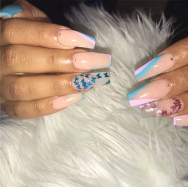 Full Set Acrylics with Designs