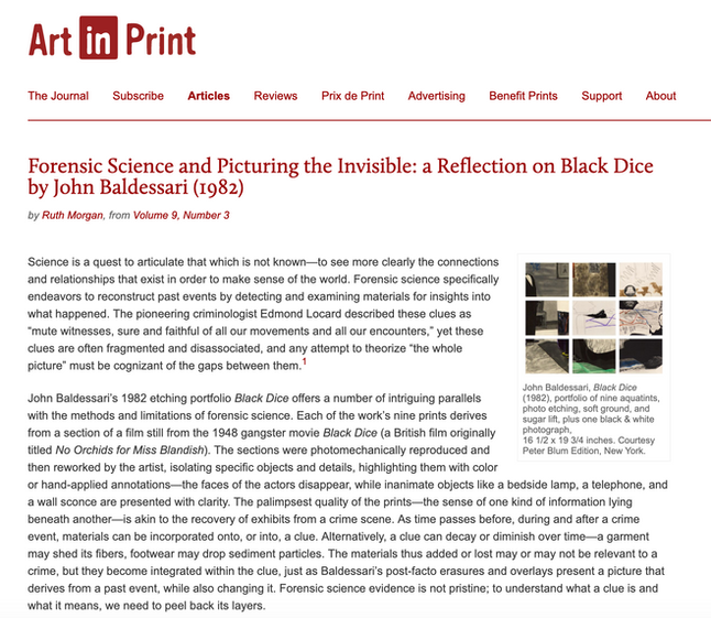 Forensic Science and Picturing the Invisible