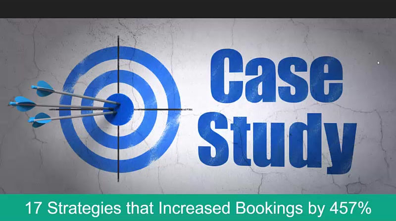 17 Strategies that increased bookings by 457%