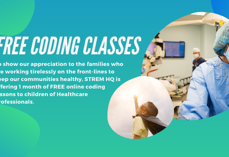 FREE CODING CLASSES FOR CHILDREN OF HEALTHCARE PROFESSIONALS- WE THANK YOU!