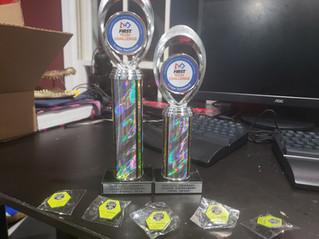 Strem HQ FTC Robotics team Arcturus is the 1st ranked team at Gwinnett league tournament !