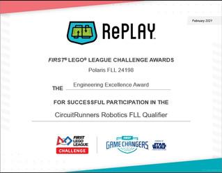 STREM HQ robotics team Polaris wins Champion Award in FLL 2020 - RePlay!