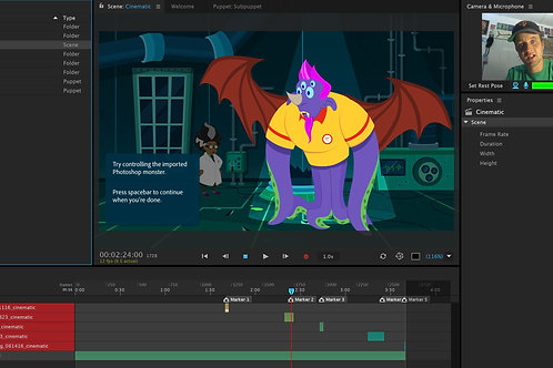 REAL TIME ANIMATION w ADOBE TOOLSET