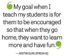 STREM HQ Founder Aditya Suri talks about STEM education