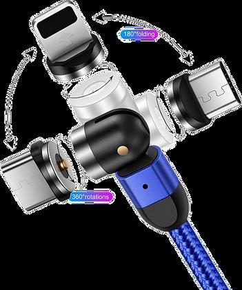 Câble de chargement magnétique rotatif