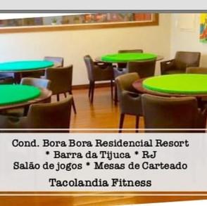 Cond Bora Bora Barra da Tijuca * Mesas de carteado