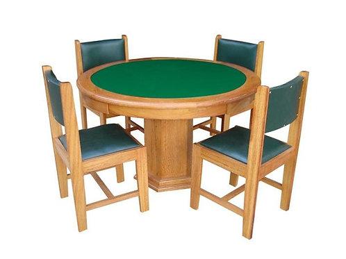 Mesa de carteado Redonda com 4 cadeiras