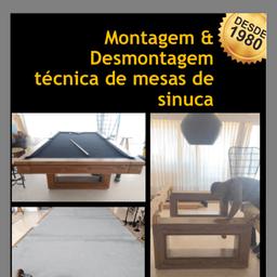 Montagem e Desmontagem de mesa de sinuca