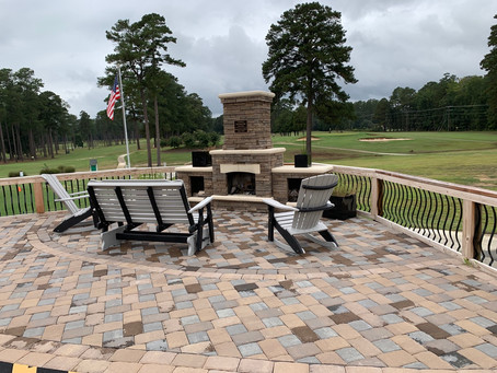 Outdoor Fireplace at Chockoyotte Country Club