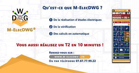 Qu'est-ce que le logiciel M-ElecDWG ? Réalisez un T2 en 10 minutes !