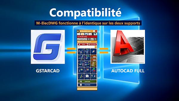 M-ElecDWG (Progiciel de pieuvres électriques) est compatible sur GstarCAD et AutoCAD
