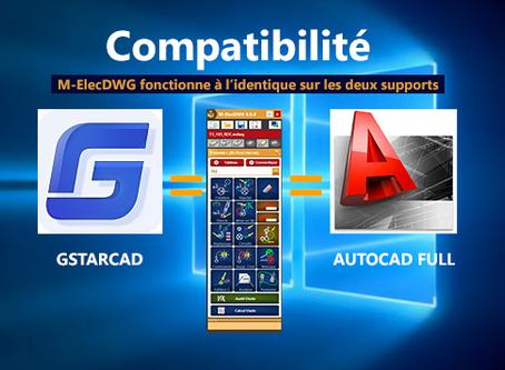 Compatibilité : Gstarcad ou Autocad Full